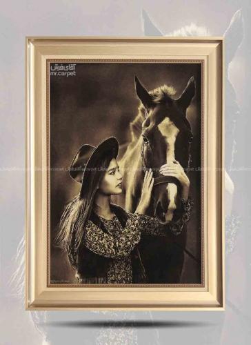 دختر و نوازش اسب 0.60*0.81 تبریز