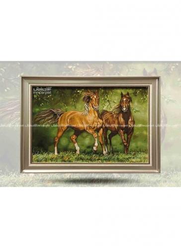 دو اسب در جنگل 0.95*0.72 تبریز