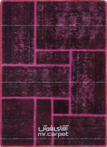 تکه دوزی   رنگ الوان پشم 0.91x0.62