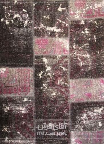 تکه دوزی   رنگ الوان پشم 1.13x1.50