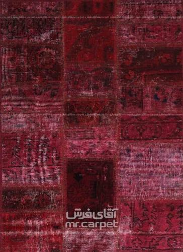 تکه دوزی   رنگ الوان پشم 0.91x0.63