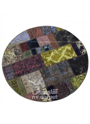 تکه دوزی   رنگ الوان پشم 1.55x1.5