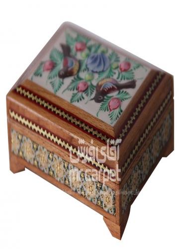 جعبه 8*11 تو راش رو نقاشی-خاتم- مکعب اصفهان