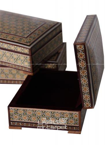 جعبه 12*17 رومالیده توجیر تخمه دار مکعب اصفهان