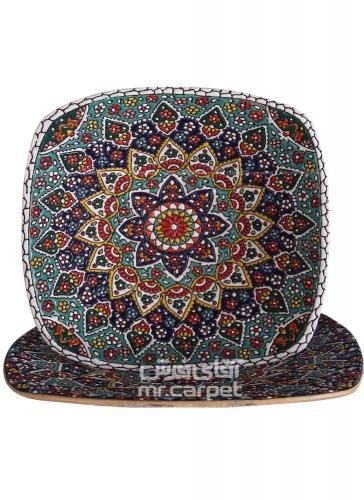 کاسه و بشقاب مربعی 30 سانت- مربع اصفهان