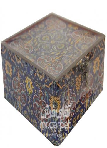 صندوقچه دکوپاژ مربع بزرگ مکعب اصفهان