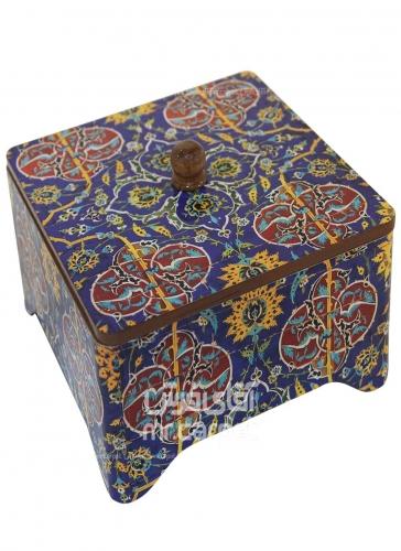 جعبه چای مکعب اصفهان