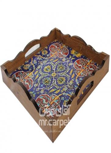 سینی دکوپاژ مربع کوچک مربع اصفهان