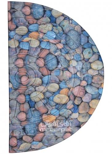 طرح فانتزی برجسته نیم دایره رنگ الوان 400 شانه پلی استر فیلامنت فرهی