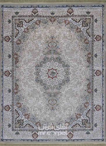 طرح گلریس رنگ نقره ای 700 شانه اکرلیک فرش سپهر
