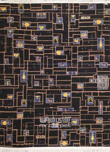 طرح SA062 عرضی نمونه 1 رنگ مشکی 320 شانه پلی استر فیلامنت فرهی