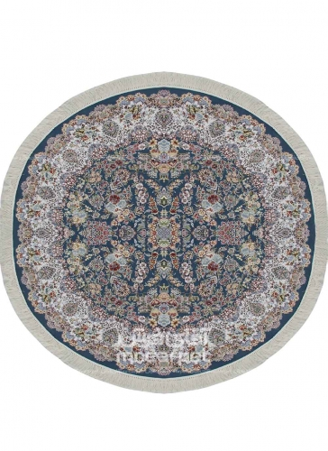 طرح HBB22 دایره رنگ آبی 1200 شانه پلی استر-اکرلیک آپادانا