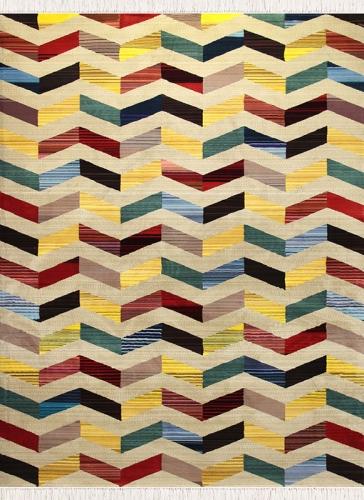 طرح AL3384 عرضی رنگ الوان 400 شانه پلی استر فیلامنت