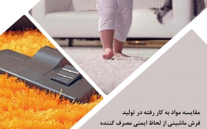 مقایسه مواد به کار رفته در تولید فرش ماشینی از لحاظ ایمنی مصرف کننده