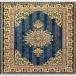 طرح طلا عرضی رنگ آبی درباری 700 شانه پلی استر فیلامنت