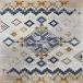 طرح 1524 رنگ آبی روشن 400 شانه پلی استر فیلامنت
