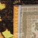 طرح 734 رنگ نارنجی 420 شانه پلی استر فیلامنت