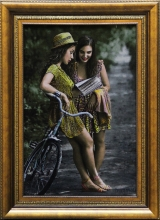 دختر کالسکه سوار
