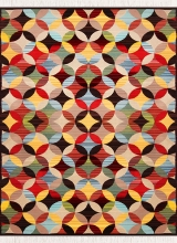 طرح AL3386 عرضی رنگ الوان 400 شانه پلی استر فیلامنت